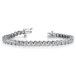 4 ct Round brilliant cut diamonds bracelet white g